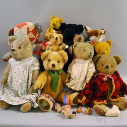 Group of Vintage and Modern Teddy Bears