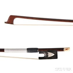 French Ebony-mounted Viola Bow, Probably Charles Joseph Theodore Guinot, c. 1840
