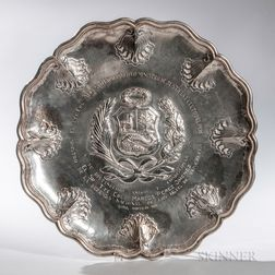 Peruvian Sterling Silver Charger