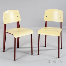 Two Jean Prouvé Standard Vitra Chairs