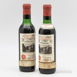 Clos Rene 1970, 2 demi bottles