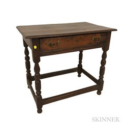 William and Mary-style Pine One-drawer Tavern Table