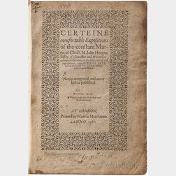 Hooper, John (d. 1555) Certeine Comfortable Expositions of the Constant Martyr of Christ, M. Iohn Hooper.