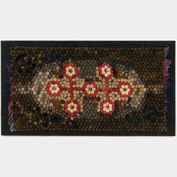 Coiled Folk Art Wool Rug