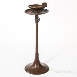Tiffany Studios Bronze Standing Ash Receiver