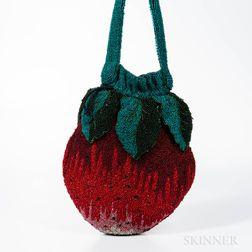 Vintage Beaded Strawberry Handbag
