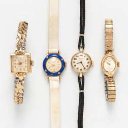 Four Lady's Vintage Wristwatches