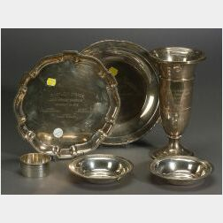 Six Sterling Trophy Items
