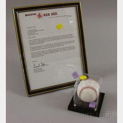Boston Red Sox J.D. Drew Autographed Baseball