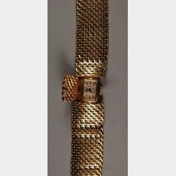 Lady's Movado 14kt Gold Bracelet Wristwatch