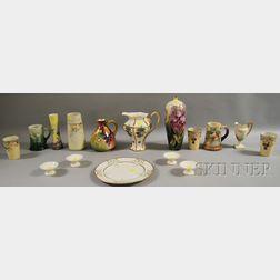 Sixteen American Belleek Porcelain Items