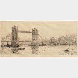 Frank Harding (British, 19th/20th Century)      Tower Bridge  /London View.