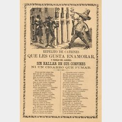 José Guadalupe Posada (Mexican, 1851-1913)      Five Double-sided Pages: Una Triste Despedida