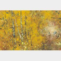 Chen Chi (Chinese/American, 1912-2005)      Golden Autumn Landscape