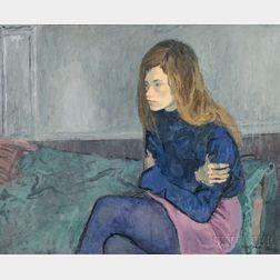 Raphael Soyer (American, 1899-1987)      Hippie Girl