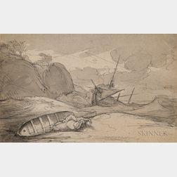Benjamin West (American, 1738-1820)      Shipwreck