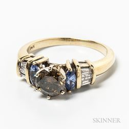 14kt Gold, Tanzanite, and Diamond Ring