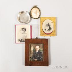 Framed Portrait Miniature of a Man