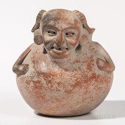 Pre-Columbian Polychrome Terra-cotta Olla