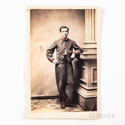 Albumen Carte-de-Visite Photograph of a Confederate Soldier, Early 1860s.