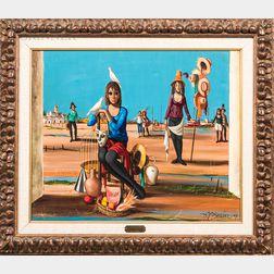 Jean Pierre Serrier (French, 1934-1989)      The Fair