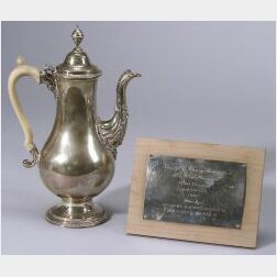 English George III Silver Trophy Coffeepot