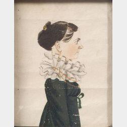 Possibly Jacob Maentel (American, 1763-1863)      Portrait of a Woman.