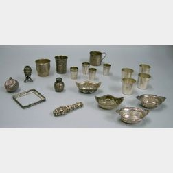 Approximately Twenty Sterling Silver and Silver Articles