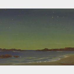 American School, 20th Century      Coastal View at Twilight