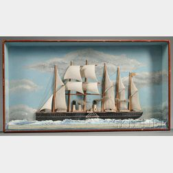 Anglo/American School, 19th Century      Diorama of the Six-masted Steam Ship GREAT EASTERN