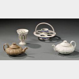 Four Wedgwood Smear-glazed Stoneware Items