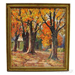 Leo B. Blake (American, 1887-1976)      Sugar Maples of New England