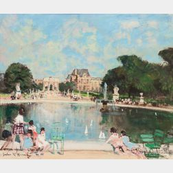 Jules René Hervé (French, 1887-1981)      Bassin Tuileries, Louvre