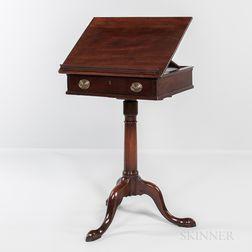 George III Mahogany Revolving Reading Stand