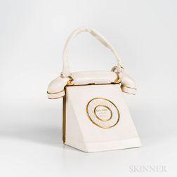 Anne-Marie White Leather Telephone Handbag