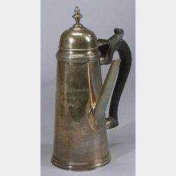 Sterling New York Racing Association Trophy Coffee Pot