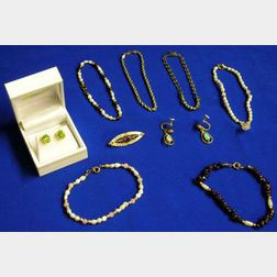 Group of Gold or Semi-Precious Stone Jewelry