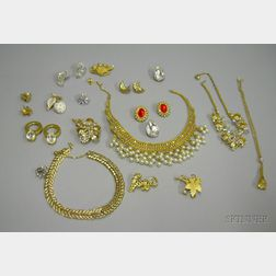Group of Vintage and Later Costume Jewelry