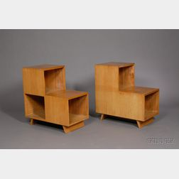 Two Cubist End Tables