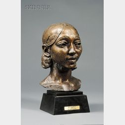 Sir Jacob Epstein (British/American, 1880-1959)      Portrait Bust of Rita Romilly