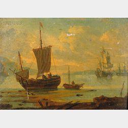 Attributed to Claude Joseph Vernet (French, 1714-1789)      Marine mit Schiffen
