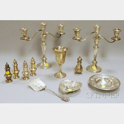 Eleven Assorted Sterling Silver Tableware and Serving Items
