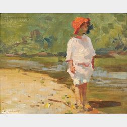 Mabel May Woodward (American, 1877-1945)      Young Child at the Water's Edge