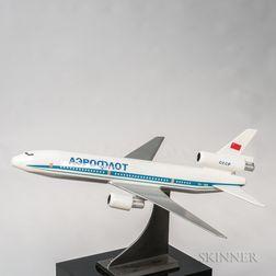 Tupolev TU-154 Travel Agent Aviation Model with Display Plinth