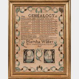 """""""Martha Wilder"""" Needlework Genealogy"""