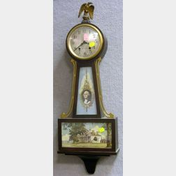 Seth Thomas Mahogany George Washington Banjo Wall Timepiece.