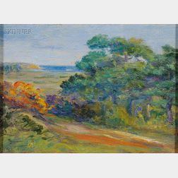 Attributed to Arthur Wesley Dow (American, 1857-1922)      Landscape Sketch