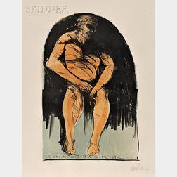 Leonard Baskin (American, 1922-2000)      Lot of Two Standing Figures:  Olympus/The Athlete