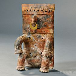 Quimbaya Seated Terra-cotta Figure