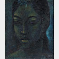 Hans Snel (Dutch, 1925-1998)      Balinese Portrait